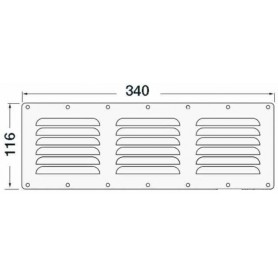Grid Ventilation Rectangular 116X340Mm