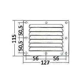 Grid Ventilation Rectangular 127X115Mm