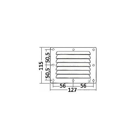 Griglia aerazione rettangolare 127x115mm