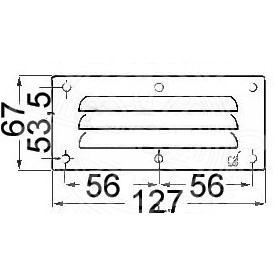 Grid Ventilation Rectangular 67X127Mm