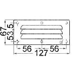Mreža prezračevanje pravokotne 67x127mm
