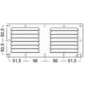 Grid ventilation rectangular 118x232mm