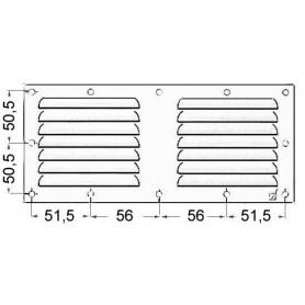 Griglia aerazione rettangolare 118x232mm