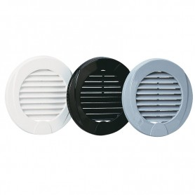 Grid ventilation white Ø76