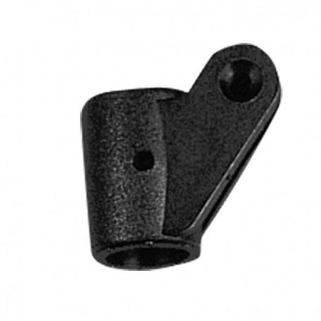 Giunto tendalino 2 ali plastica nero 20 mm