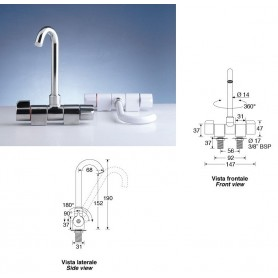 Mixer Chrome Plated Rod High With Aerator