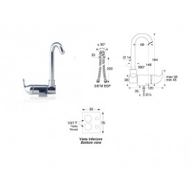 Mixer Single-Lever High Reed With Aerator