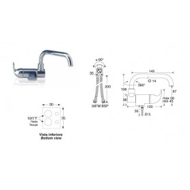 Mixer Single-Lever Low Cane With Aerator