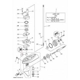 Boccola asse trasmissione 3A - F2,5A