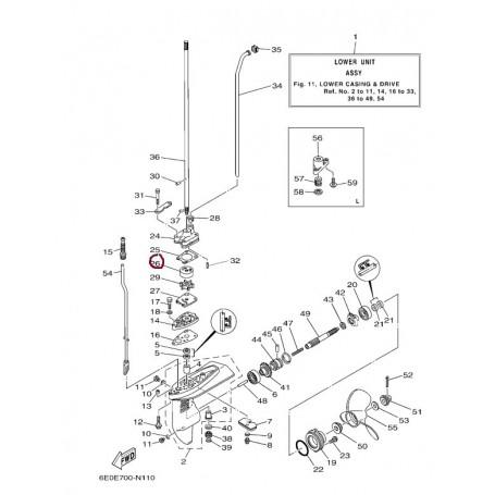 Kratek vodna črpalka-4 - 5 hp