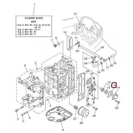 Guarnizione termostato 9,9 - 70 cv