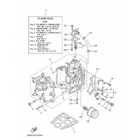 Guarnizione scarico 9.9 - 20 hp