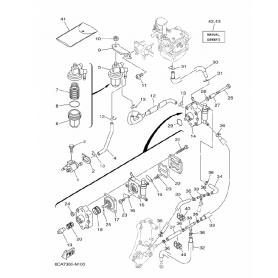 Diaframma benzina 9.9 - 15 hp