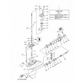 Bicchierino pompa acqua 6 - 20 hp