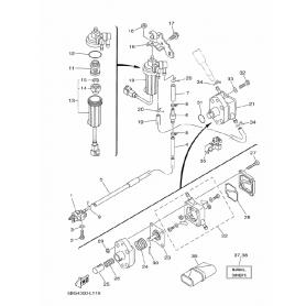 Fuel pump membrane 20-70 hp