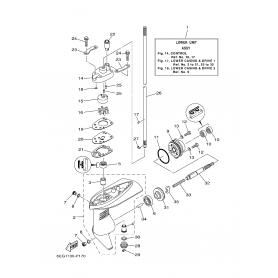 Vodna črpalka tesnilo F2,5B