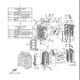Guarnizione coperchio testa 200 - 250 hp