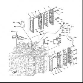 Guarnizione coperchio scarico 200 - 250 hp