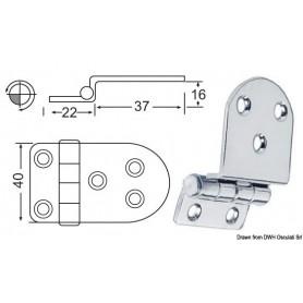 Zipper overhang, 2mm