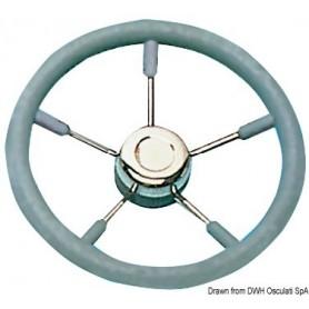 Steering Wheel With Stainless Steel Spokes Grey