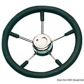 Steering Wheel With Stainless Steel Spokes Black