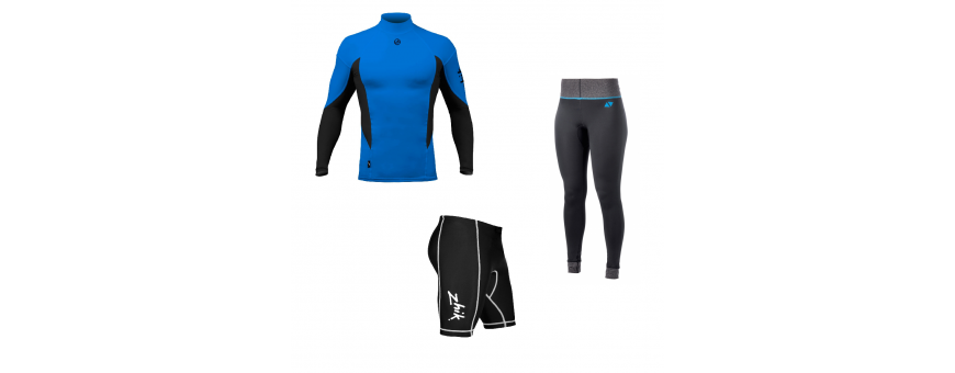 Lycra and shorts