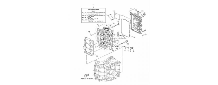 The engine block 2 F30B-F40F
