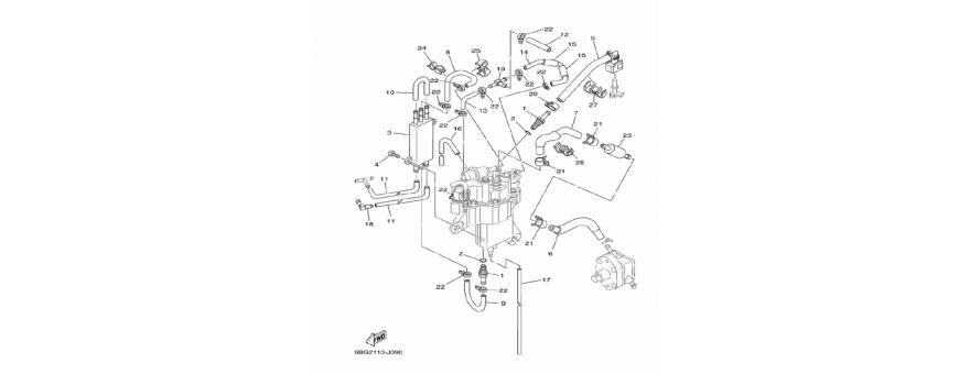 Vbrizgavanje, črpalko goriva F30B-F40F