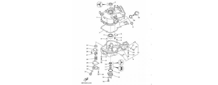 Cilinder in bloku motorja 2 F4B-F5A-F6C