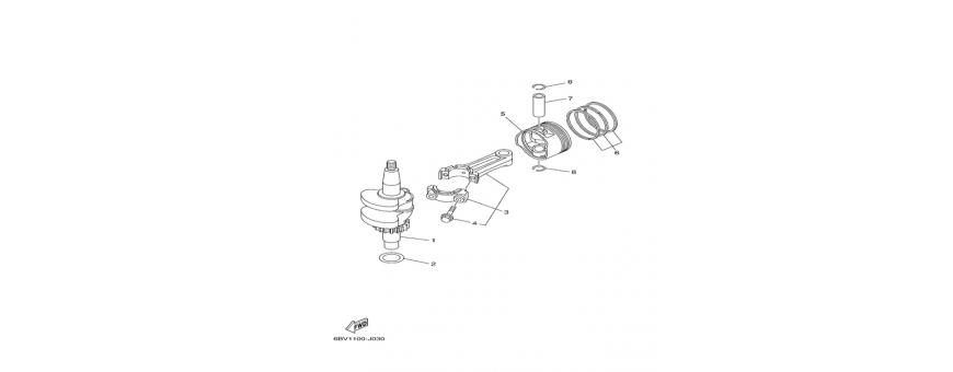 Crankshaft and piston F4B-F5A-F6C