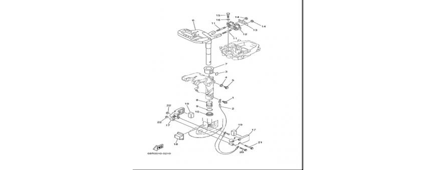 Podpora motorja 2 F6A-F6B-F8C
