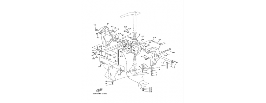 Engine support F150A-FL150A