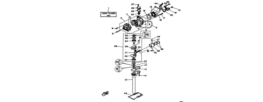 The cylinder and the crankcase 3A