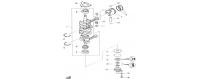 Albero motore e pistone 40H