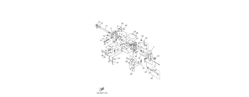 Motor bracket for 9.9 F-15F