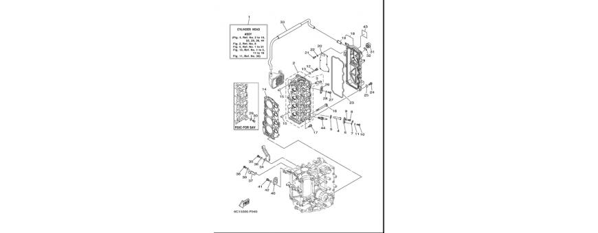 Blocco motore 2 F40D-F50F-F60C