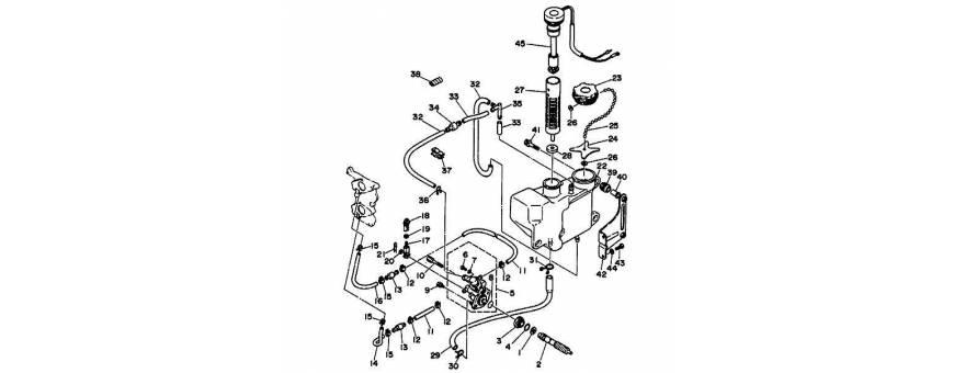 Oil pump 20D-25N 25-horsepower (hp) 2-stroke, autolube 2 cylinder