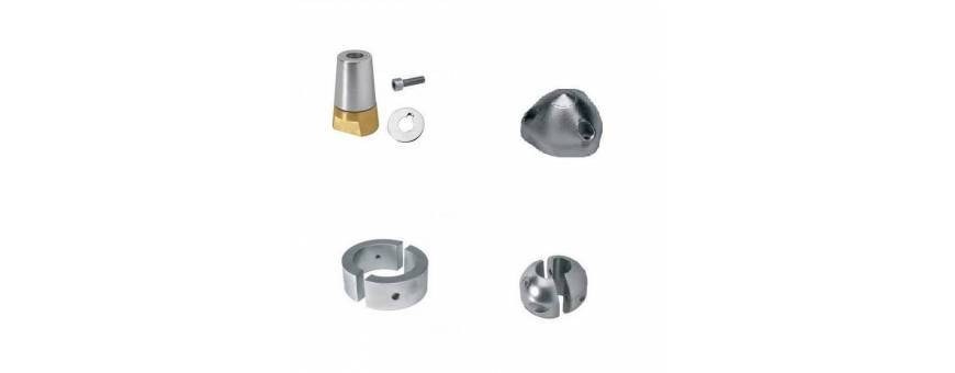 Anodes for shafts and propellers.