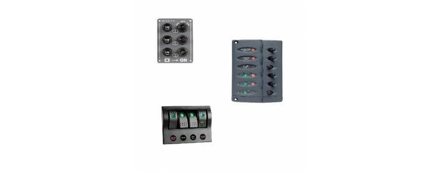 Panels and electrical panels for boats