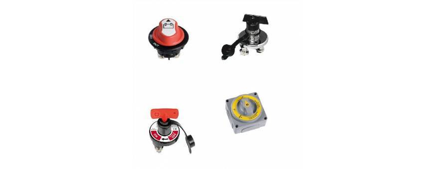 Selectors and battery switches for boats, boats