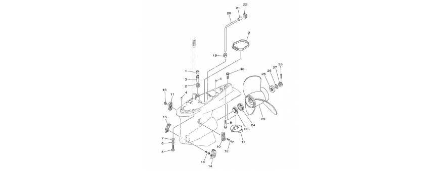 Adria Marine | Yamaha Outboard Parts - Foot 2 F225C